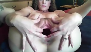 curly girl shows off cervix