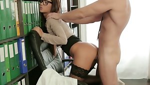 Alexis Is An Obedient Secretary For Horny Stud Boss